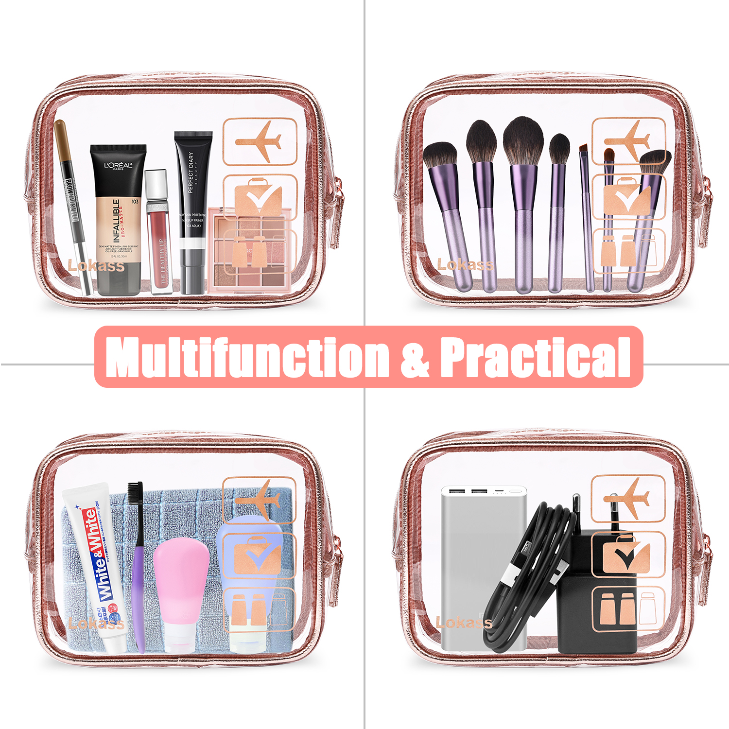 clear cosmetic bags wholesale 11
