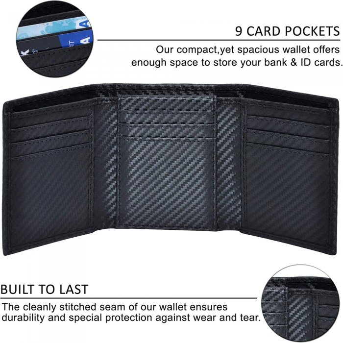 Aamzon-hot-sale-Wallet-For-Men-PU-Leather-Mens-Trifold-Wallet-WL009-6