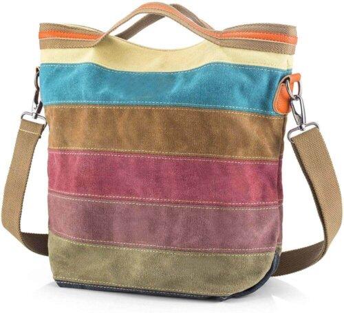 Canvas-Handbag-Multi-Color-Striped-HB085-1