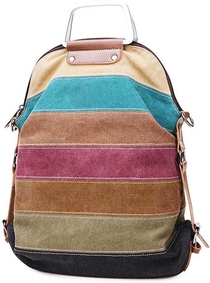 Canvas-Handbag-Multi-Color-Striped-HB085-2