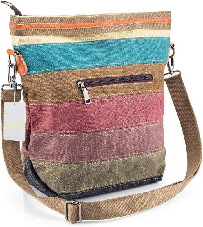 Canvas-Handbag-Multi-Color-Striped-HB085-3