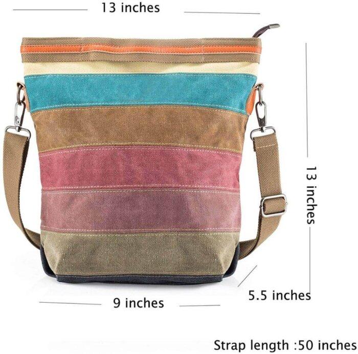 Canvas-Handbag-Multi-Color-Striped-HB085-5