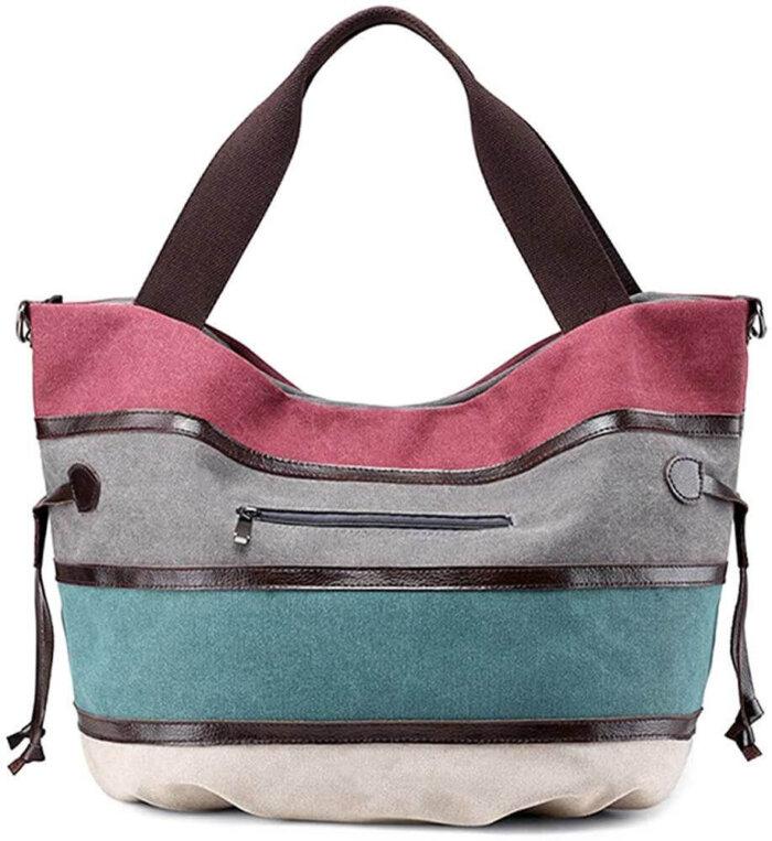Canvas-Handbag-Multi-Color-Striped-HB085-6