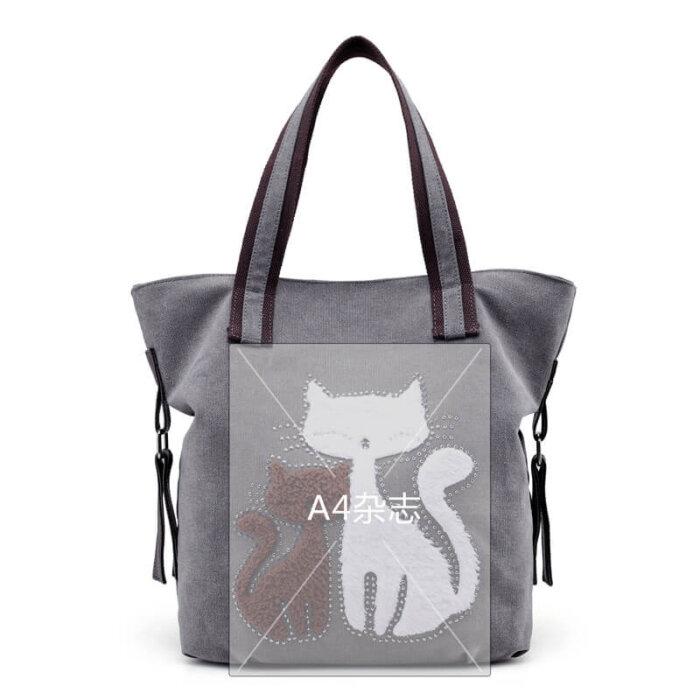 Cat-print-canvas-handbag-HB103-2