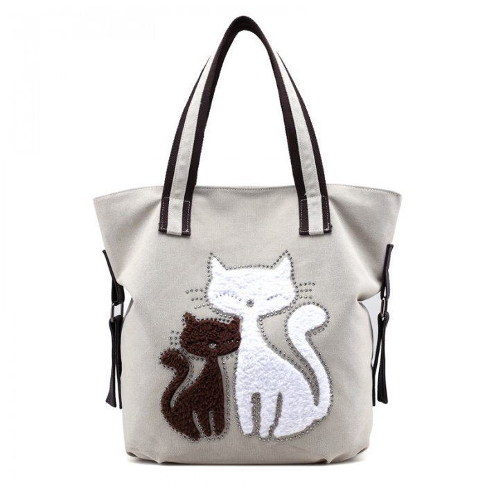 Cat-print-canvas-handbag-HB103-5