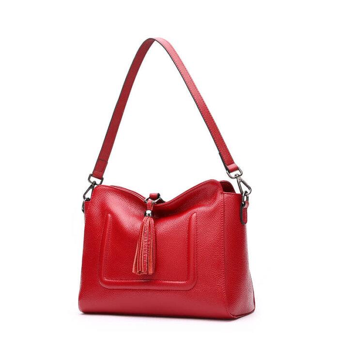 Custom-fashion-genuine-leather-handbag-with-tassels-CHB074-3