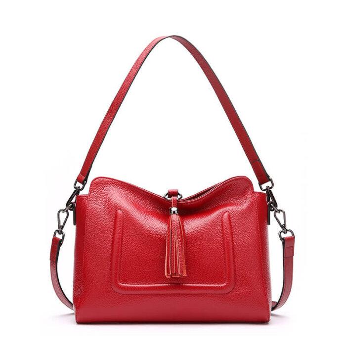 Custom-fashion-genuine-leather-handbag-with-tassels-CHB074-6