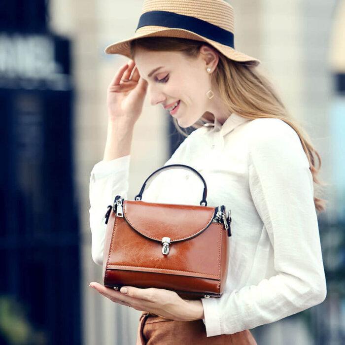 Custom-logo-cowhide-oil-waxed-handbags-CHB085-1