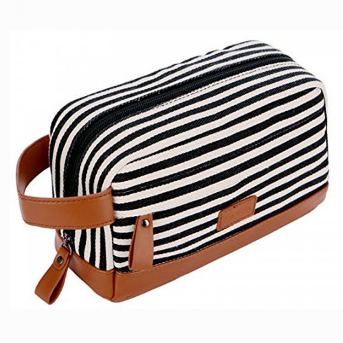 Custom-travel-leather-makeup-organizer-canvas-cosmetic-bag-COS020-1