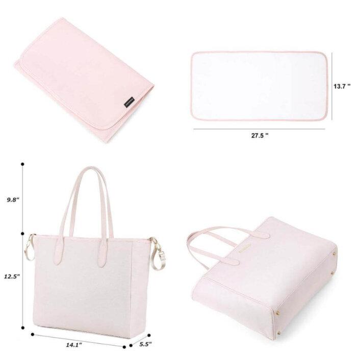 Diaper-Bag-Large-Totes-Handbag-with-Changing-Pad-HB060-5