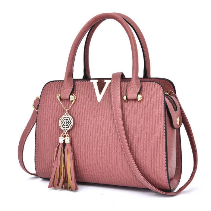 Fashion-Hand-Women-Sling-Shoulder-Cross-body-Luxury-Leather-Handbag-Set-HB064-2