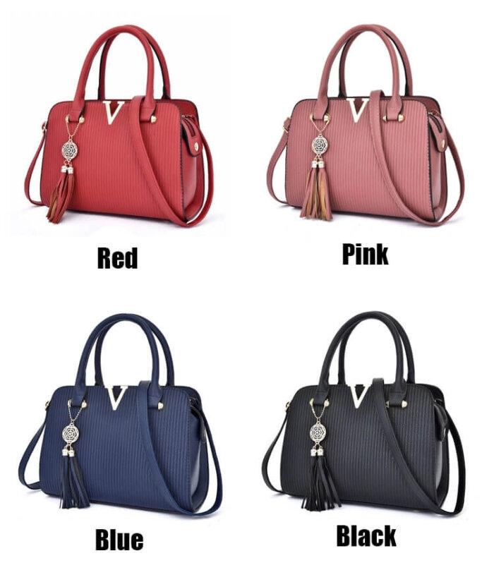 Fashion-Hand-Women-Sling-Shoulder-Cross-body-Luxury-Leather-Handbag-Set-HB064-6