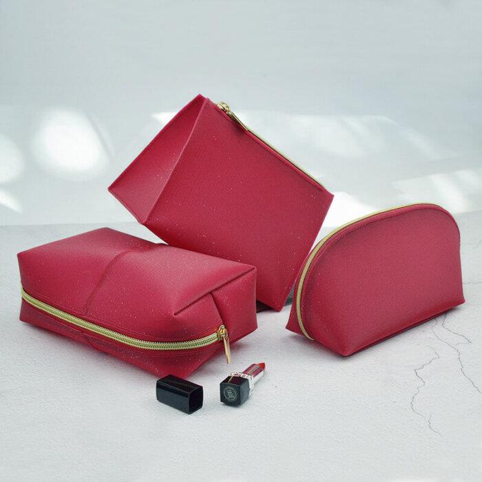 Fashion-PU-Leather-Red-Set-3-Organizer-Cosmetic-Bag-COS010-3