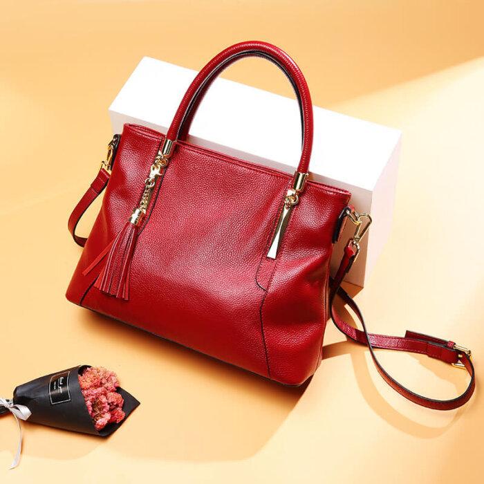 Genuine-leather-wholesale-tassel-handbag-CHB071-1