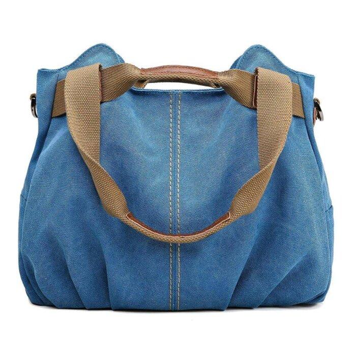 Ladies-Casual-Vintage-Hobo-Canvas-Shoulder-Tote-Handbag-HB074-4