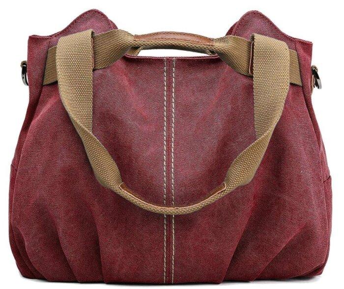 Ladies-Casual-Vintage-Hobo-Canvas-Shoulder-Tote-Handbag-HB074-5