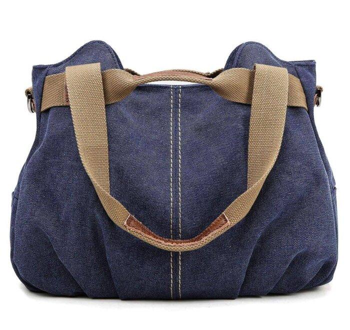 Ladies-Casual-Vintage-Hobo-Canvas-Shoulder-Tote-Handbag-HB074-6