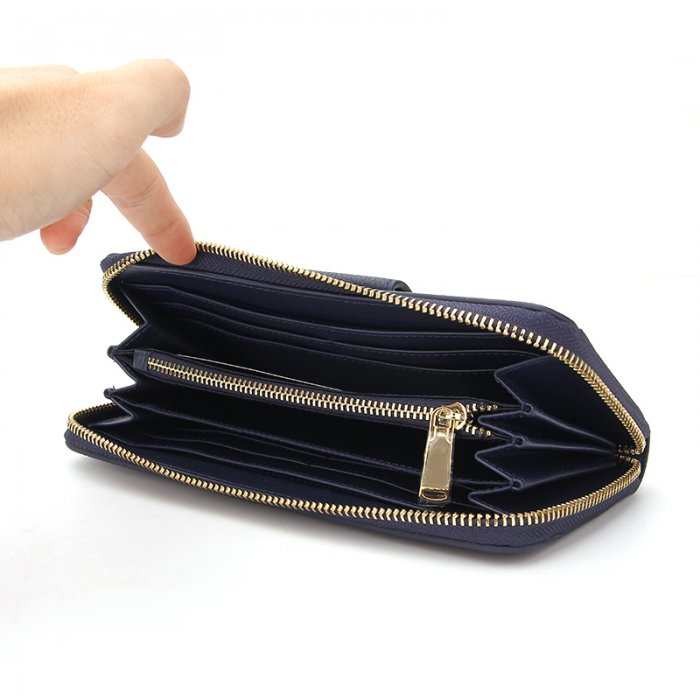 Ladies-Folding-Leather-Long-Clutch-Credit-Card-Wallet-WOL017-5