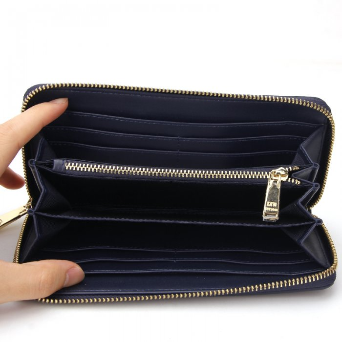 Ladies-Folding-Leather-Long-Clutch-Credit-Card-Wallet-WOL017-6
