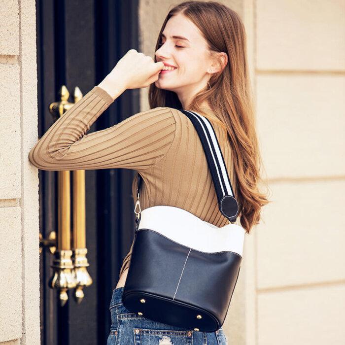 Large-space-lady-cowhide-bucket-handbag-wholesale-CHB095-1
