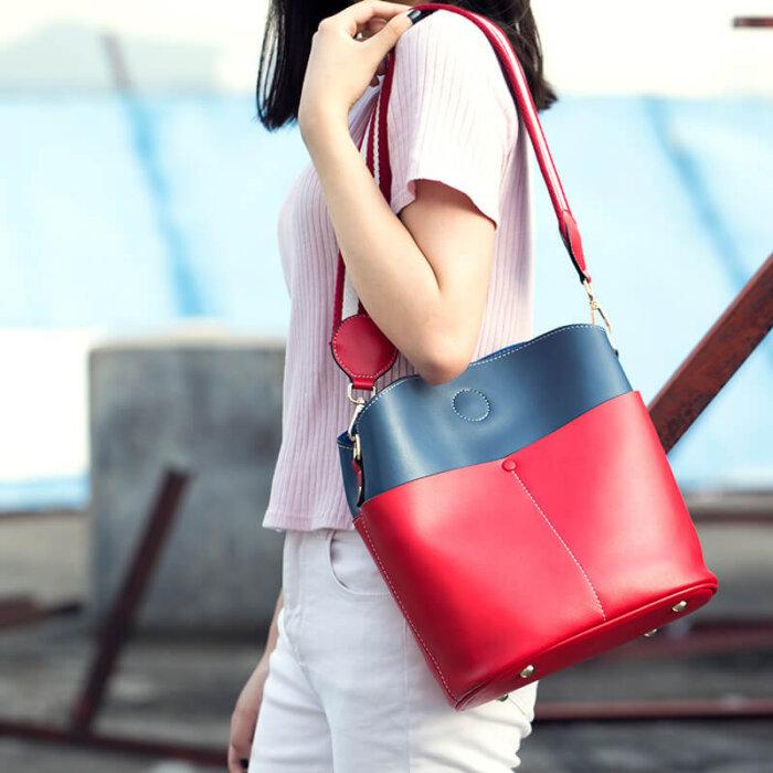 Large-space-lady-cowhide-bucket-handbag-wholesale-CHB095-2