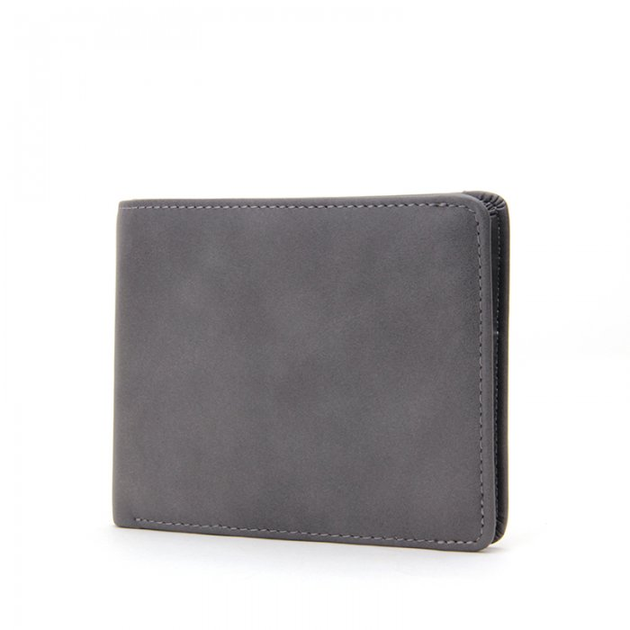 Leather-Bifold-Mens-Wallet-Money-Clip-With-Zipper-Wholesale-WL013-2
