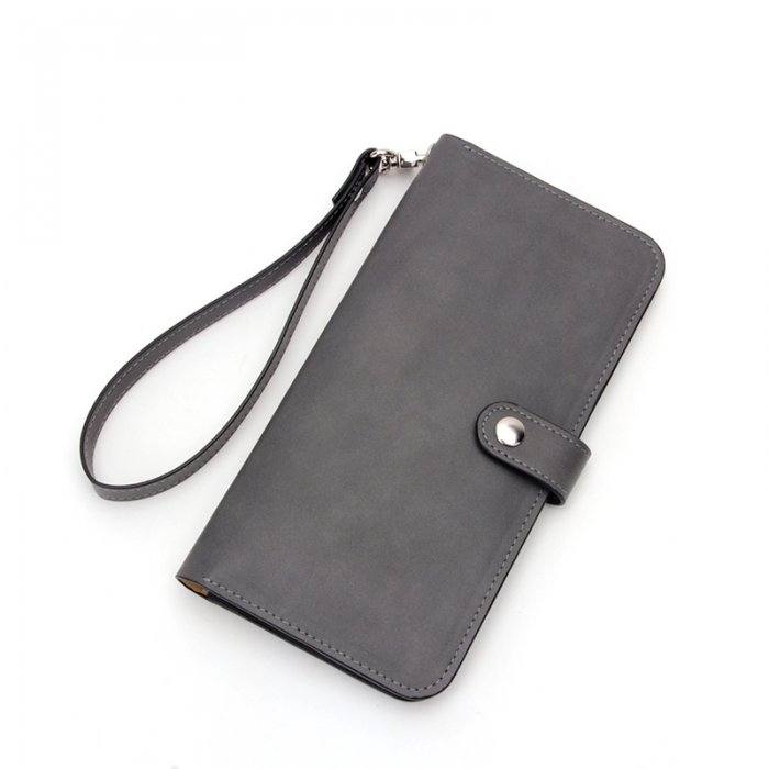 Leather-Long-Wallet-for-Men-Black-Bifold-Checkbook-Cover-Great-Gift-WL018-4