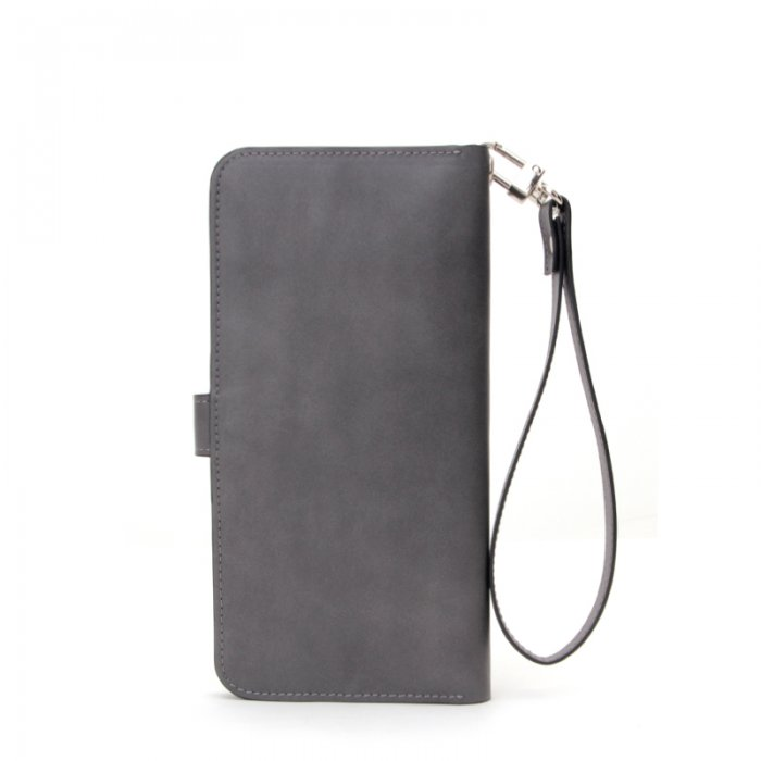 Leather-Long-Wallet-for-Men-Black-Bifold-Checkbook-Cover-Great-Gift-WL018-6