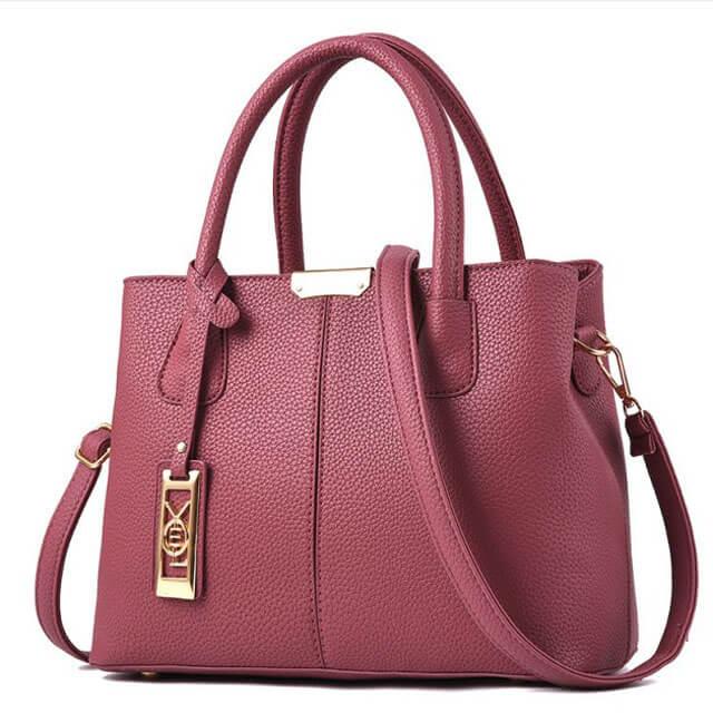 Litchi-pattern-hardware-tag-decoration-stitching-women-bags-HB008-3