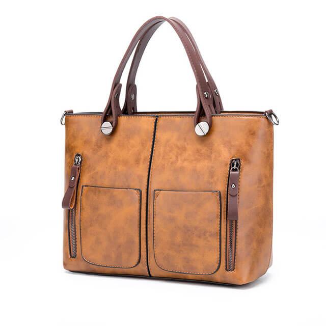 Matte-leather-Splice-Ladies-bags-Zipper-handbags-HB009-6