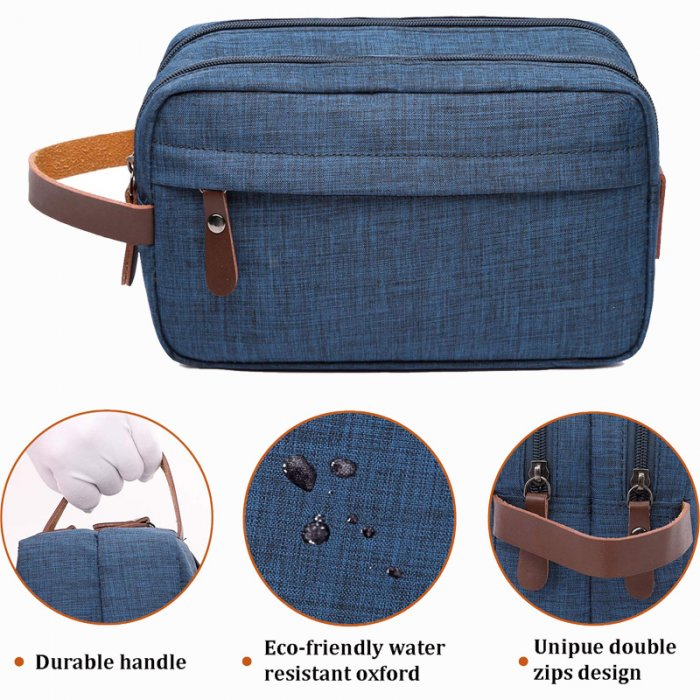 Mens-Toiletry-Bag-Dopp-Kit-Travel-Bathroom-Bag-COS039-3