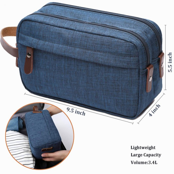 Mens-Toiletry-Bag-Dopp-Kit-Travel-Bathroom-Bag-COS039-4