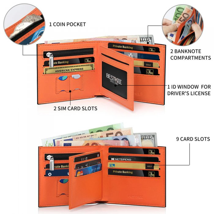 Multi-Function-RFID-Blocking-PU-Leather-Bifold-Mens-Wallet-WL010-3