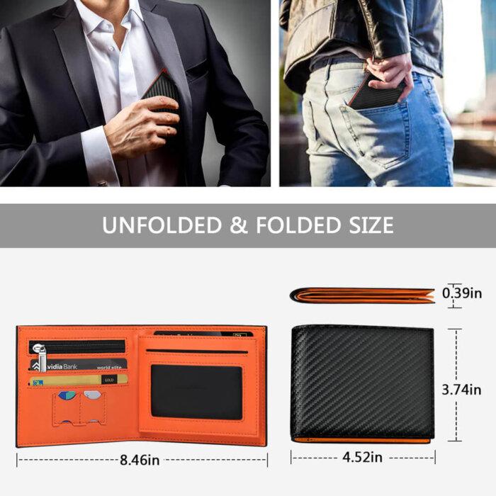 Multi-Function-RFID-Blocking-PU-Leather-Bifold-Mens-Wallet-WL010-5