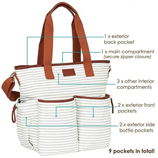 Multi-pocketed-Baby-Handbag-Baby-Changing-Handbag-HB069-5