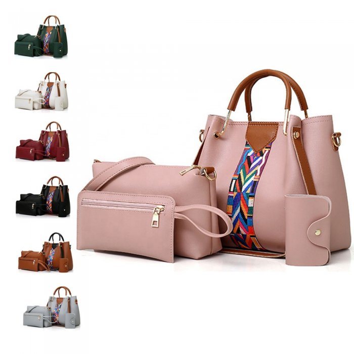 New-Fashion-4pcs-Sets-Bags-Solid-Totes-Designer-handbags-HB077-2