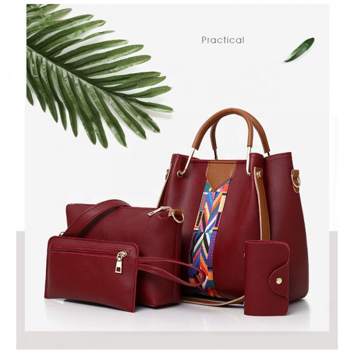 New-Fashion-4pcs-Sets-Bags-Solid-Totes-Designer-handbags-HB077-6