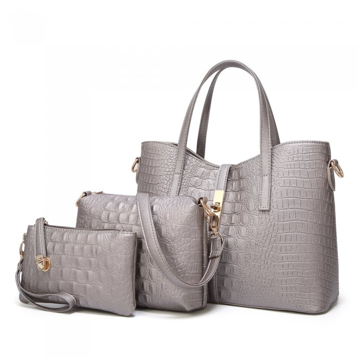 New-Style-PU-Crocodile-Ladies-Bags-Handbag-Sets-HB071-1