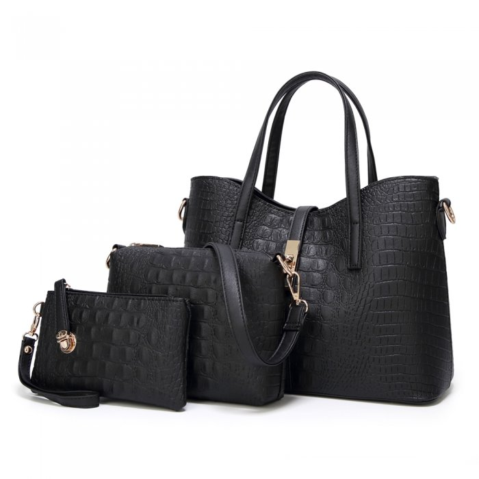 New-Style-PU-Crocodile-Ladies-Bags-Handbag-Sets-HB071-2