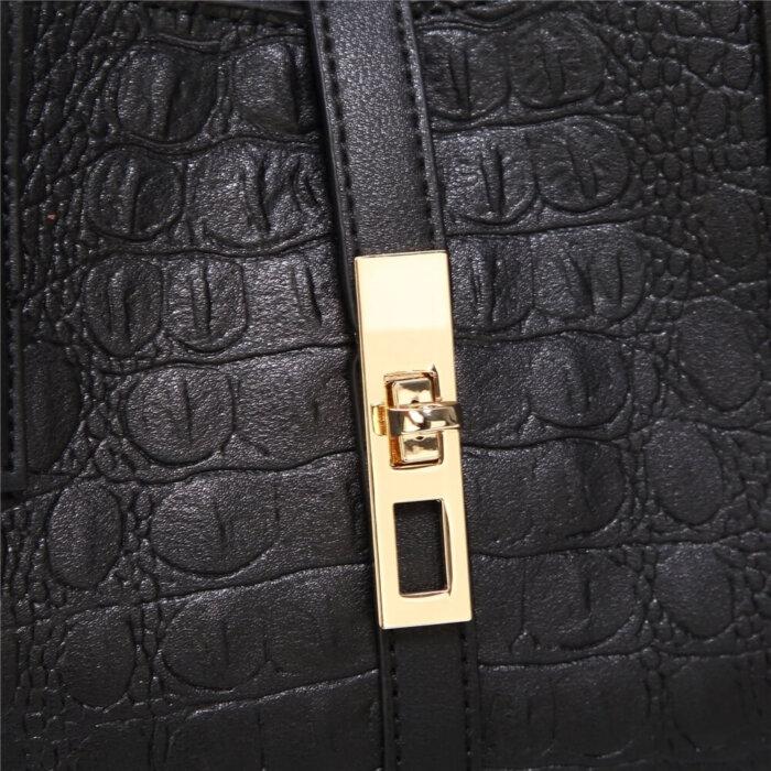 New-Style-PU-Crocodile-Ladies-Bags-Handbag-Sets-HB071-6