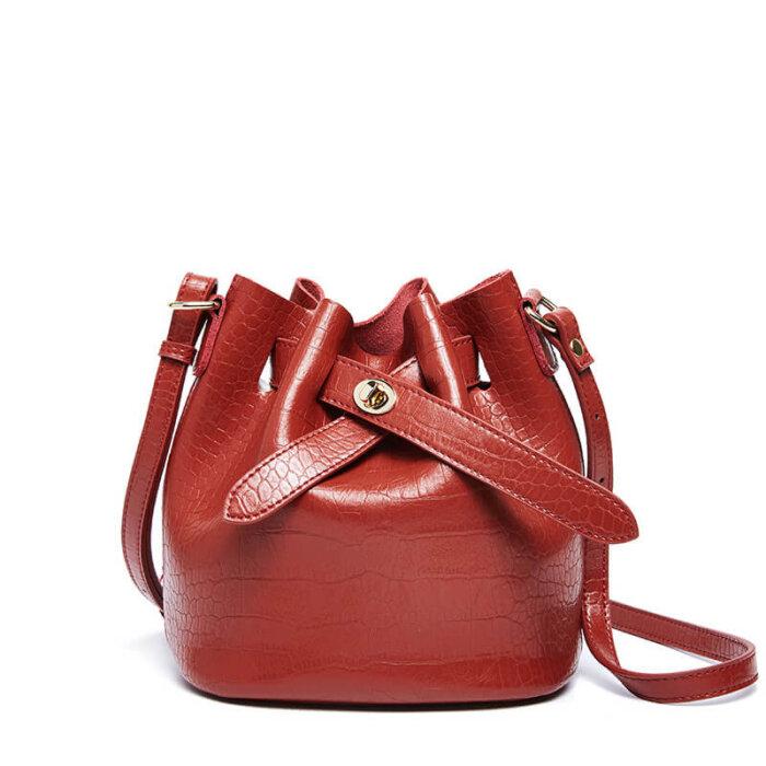 New-alligator-print-cowhide-bucket-handbag-CHB088-5