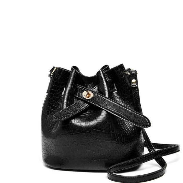 New-alligator-print-cowhide-bucket-handbag-CHB088-6