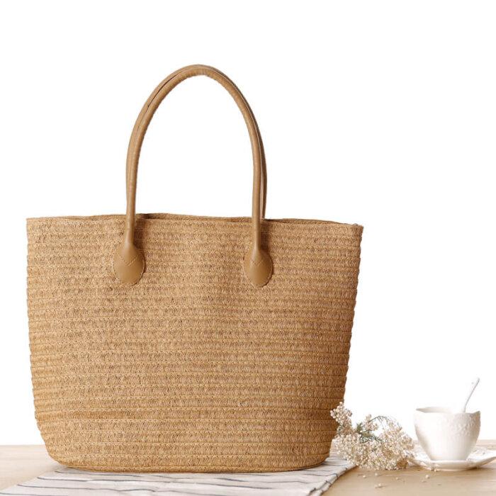 OEM-custom-nature-color-straw-beach-bag-foldable-shopping-tote-handbag-HB038-1