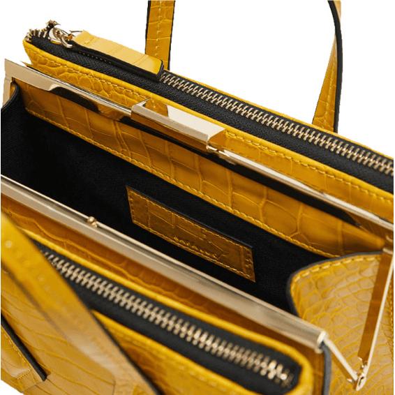 Online-shopping-exotic-crocodile-metal-clip-fashion-crossbody-handbag-HB039-4