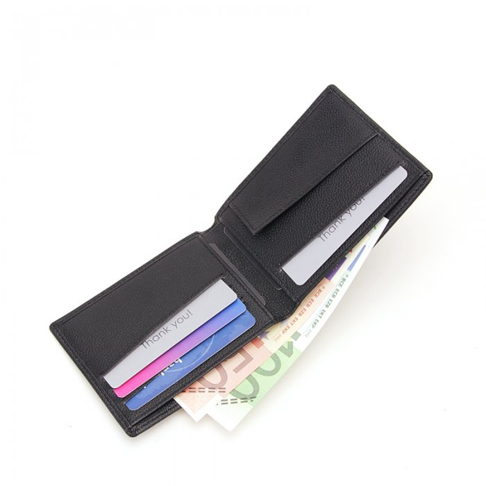 RFID-Blocking-Bi-fold-Custom-PU-Real-Leather-Wallet-WL006-2