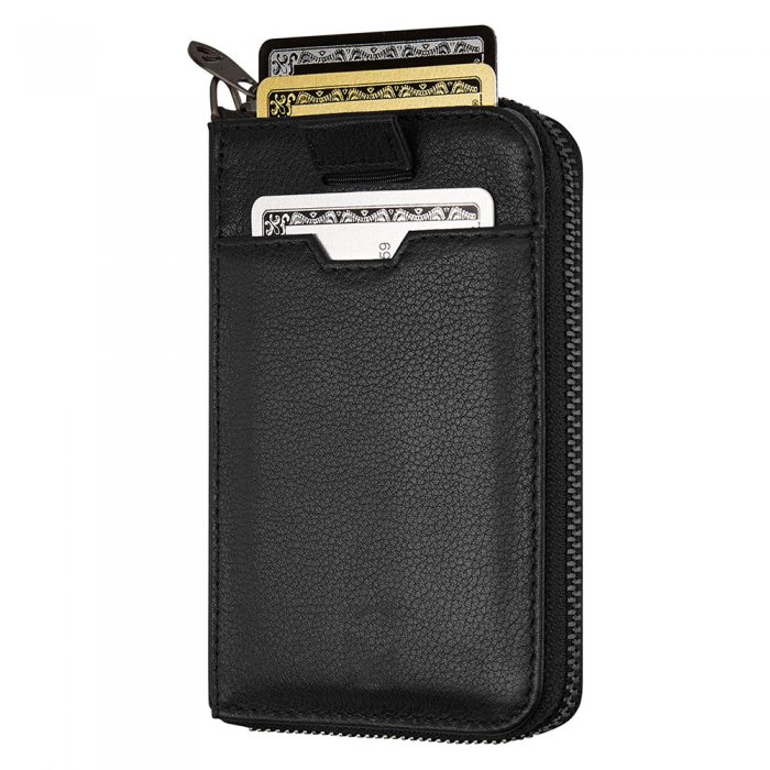 RFID-Blocking-Slim-Minimalist-Vegan-Leather-Mens-Zip-Wallet-WL002-1