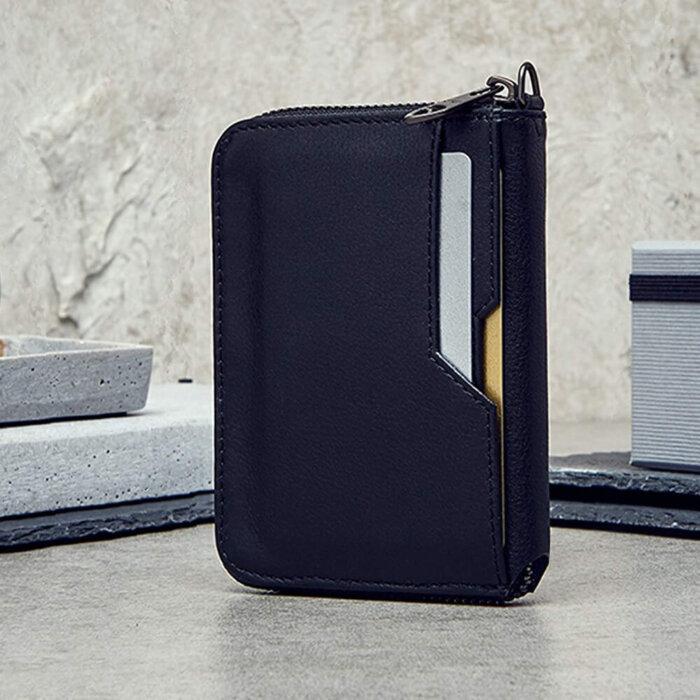 RFID-Blocking-Slim-Minimalist-Vegan-Leather-Mens-Zip-Wallet-WL002-6
