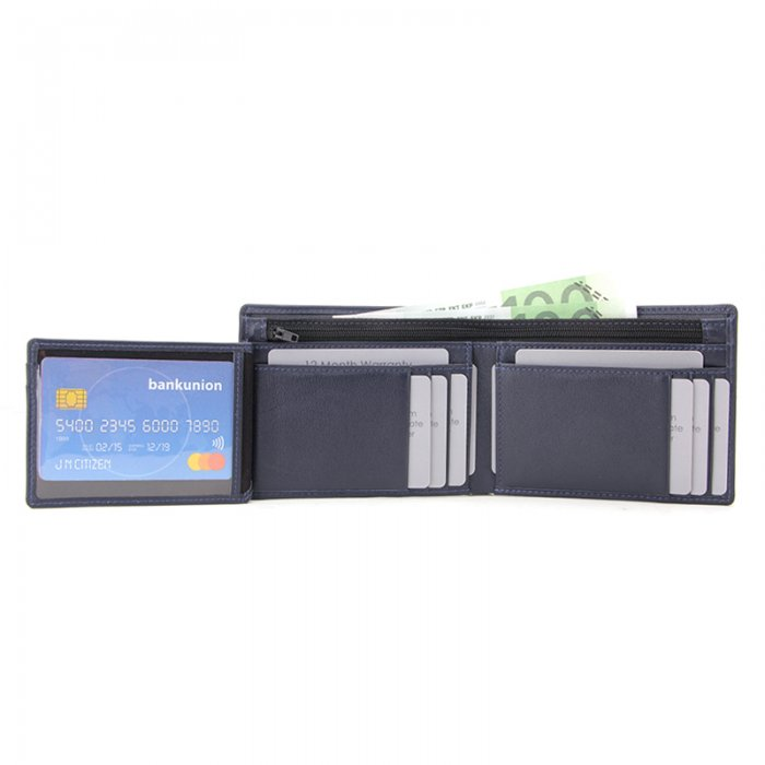 RFID-Blocking-Trifold-PU-Leather-Mens-Wallet-Wholesale-WL022-1