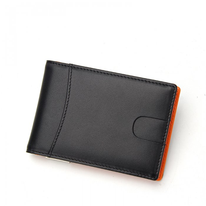 Small-Size-PU-Leather-Money-Clip-Man-Wallet-WL016-3
