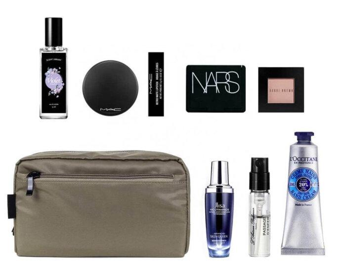 Unisex-nylon-Waterproof-Travel-Cosmetic-Bag-Organizer-COS092-2